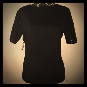 Tops - Black shirt with lace back
